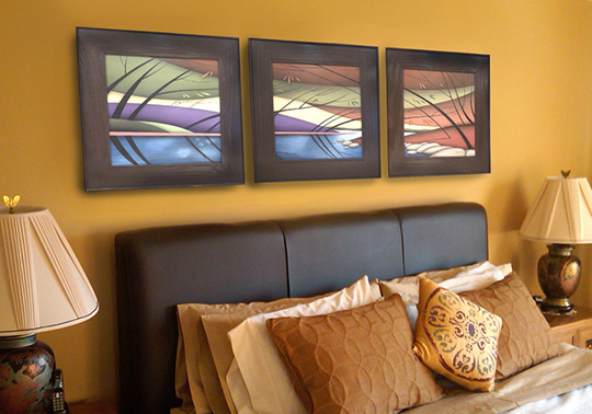 Three Panel Paintings by Brian Jensen